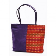 Talli shopping bag in upcycled saree fabric