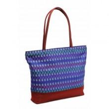 Tara shopping bag in upcycled saree fabric