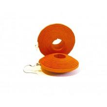 Light orange Paper-Earrings II Eco & Fair