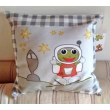 "Cushion Cover ""Astronaut"" of Organic Cotton"