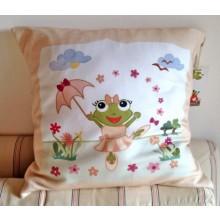 """Cushion Cover """"So tutu"""" of Organic Cotton"""