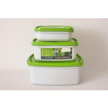 Greenline Square Food Storage 3 Container Set Bargain Price