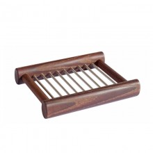 Soap Dish made of Thermowood and Stainless Steel Rods