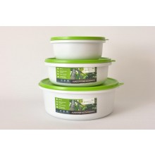 Greenline Round Food Storage Container 3 Container Set Bargain Price