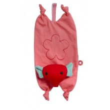 Cuddly Toy with Pacifier Holder Gitte the Elephant