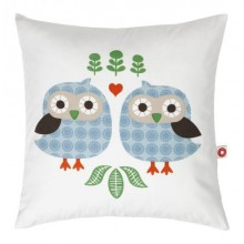 Children's Cushion and Scatter Cushion Almue, the blue Owls