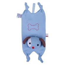Cuddly Toy and Cloth with Pacifier Holder Herbert the Dog