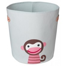 Storage bin Boss light Monkey made of organic cotton Ø 36 cm