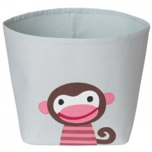 Storage bin Monkey Ida made of light organic cotton Ø 21 cm
