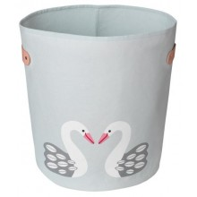 Storage bin Boss swan made of light organic cotton Ø 36 cm