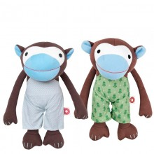 Cuddly Animal Monkey Frederik in green or blue trousers
