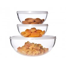 Set of Glass Bowls with Lid 6-part