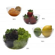 Glass Bowl 0.2 / 0.3 / 0.5 / 1.0 L from Trendglas Jena