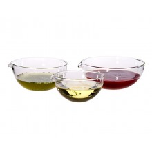 Dipping Set with Spout – 3 Glass Bowls