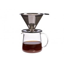 Coffee Maker POUR OVER for Two, 0,5 L, with permanent stainless steel filter