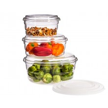Microwave Set CENTRIC with glass and plastic lids – 9-part