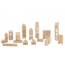 Wooden Construction Set VARIS Town Builder 107