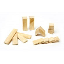 Magnetic Wooden Building Blocks 14-Piece Set, Natural