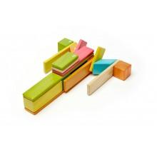 Magnetic Wooden Building Blocks 24-Piece Set, colored – medium building set