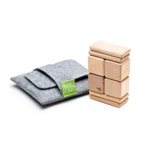 Original Pocket Pouch with 8 Magnetic Wooden Blocks (natural)