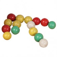 Clay Marbles for marble roller coaster from Christof Beck