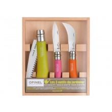 Opinel Gardener Box Set – Gardening Knife Set, 3-part