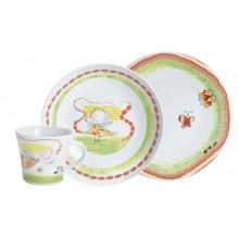 "Kiddie Tableware Set ""Flower Fairy"", 3-part with Magic Grip by Kahla"