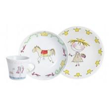 "Kahla Magic Grip Kiddie Tableware Set ""Fairytale Princess"", 3-part"