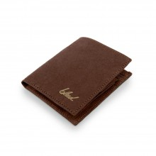 Wallet made from Jacron by bleed dark brown