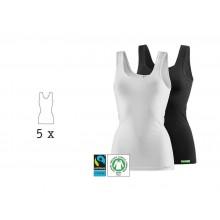 kleiderhelden LadyCover Undershirt & Tanktop, Organic Cotton, 5 Pack