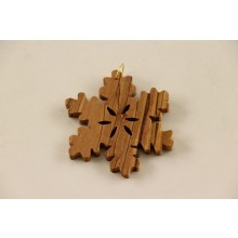 "Advent ornaments ""Snowflake"" of Olive Wood, Type 9"