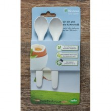 Egg spoon of bioplastics – 2-part set | Biodora