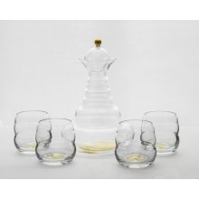 Carafe Alladin Tree of Life gold & 4 Cups Mythos Tree of Life gold