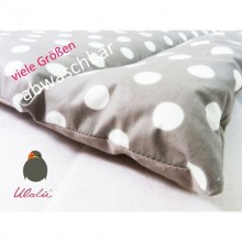 Rinseable Baby's Changing Pad Gray Dottet in various sizes