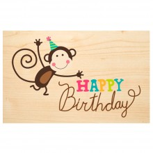 HAPPY Birthday wooden postcard – Say it with Nature – PEFC® beechwood
