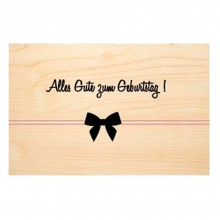 """Alles Gute zum Geburtstag"" (Happy Birthday) wooden postcard made of PEFC® beechwood"