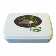 "Sloth ""Chillax"" Bioplastics Lunchbox"