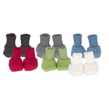 Baby Fleece Booties made of Organic Wool Fleece