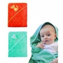Baby Hooded Towel – Fox (orange) or Owl (green)