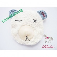Baby Spelt Grain Pillow BEAR with Personalised Embroidery