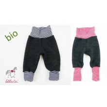 Baby Bloomers made of Organic Felt Wool with colored Waistband