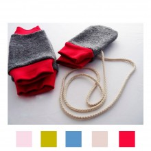 Baby Winter Set: Legwarmers and Gloves made of Organic Wool