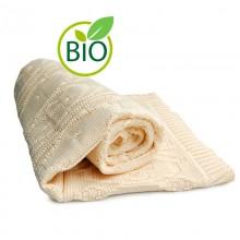Baby Blanket »Little Bear Pattern« of Organic Cotton, Sonnenstrick