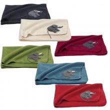 Baby Blanket Elephant – Swaddle Wrap – Organic Merino Wool Fleece
