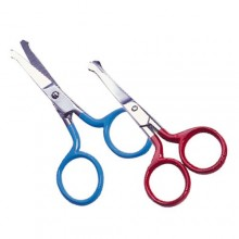 Baby scissors made of stainless steel with colourful handle