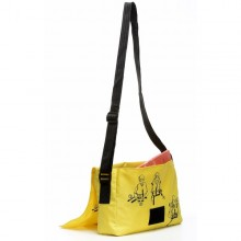 Shoulder Bag of recycled life jacket and advertising banner