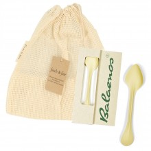 Balaenos Leftovers Spoon Set in Organic Cotton String Bag
