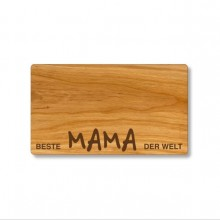 Cutting Board made of Cherry Wood, German engraving Best Mum in the World