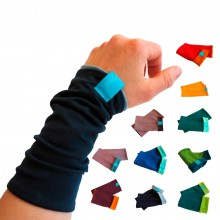 Eco Cotton Jersey Arm Warmers for Girls & Women, many colours