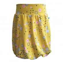 Patterned Bubble Skirt made of Organic Cotton Jersey Abstract blossoms